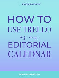 Do you know how to keep track of your blog posts? It is so important to be blogging consistently, but how? Use Trello as an editorial calendar to manage your blog content and schedule your posts. Sort your content by categories and see what posts you have planned. Take your blog to the next level with Trello! Plus, swipe my free Trello blog board! Trello for business, blog calendar, track blog posts, organize blog posts, use trello for my blog