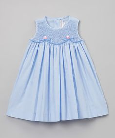 Blue Floral Babydoll Dress - Infant & Toddler