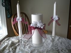 Wedding Unity Candles.   This lovely set went all the way to Disney World for a wedding!
