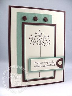 Stampin' Up! Demonstrator - Mary Fish, Stampin' Pretty Blog, Stampin' Up! Card Ideas Tutorials: April 2009