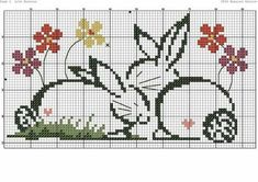 Bunnies need colors Cross Stitch Bookmarks, Mini Cross Stitch, Simple Cross Stitch, Counted Cross Stitch Patterns, Cross Stitch Charts, Cross Stitch Embroidery, Hand Embroidery Designs, Embroidery Patterns, Crochet Baby Mobiles