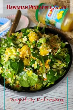 This simple easy Hawaiian Pineapple Salad is perfectly suited for any grilled meat or seafood! Healthy, easy and quick to make, it's a winner! #hawaiiansalad #pineapplesalad Hawaiian Salad, Good Healthy Recipes, Easy Recipes, Breakfast Recipes, Dinner Recipes, Pineapple Salad, Grilled Meat, Quick Easy Meals, Family Meals