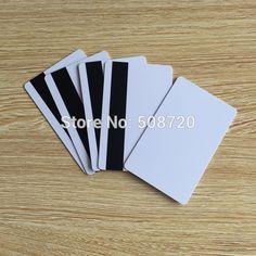 10 cái PVC Trống Trắng Thẻ Nhựa Triệu LoCo thẻ Từ Mag Sọc có thể in cho máy in phun CR80