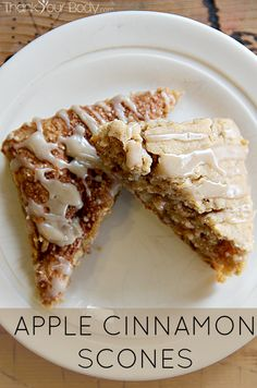 These Apple Cinnamon Scones are gluten free! Grated apple, maple syrup, and cinnamon give these scones their soft texture and delicious flavor.
