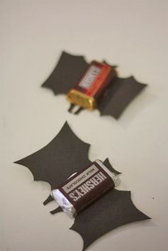 Batty chocolates..lol easy to make treats for kids for Halloween..