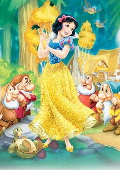 Snow White and seven Dwarfs. DISNEY'S.