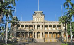 Iolani, Honolulu, Hawaii. Americans only true Palace.