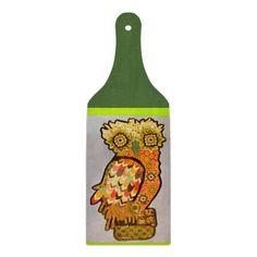 Bright Owl Decorative Glass Cutting Board Paddle