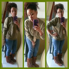 His sweater, my style♥#twistout #naturalhair