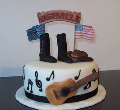 Country Music Themed Cake