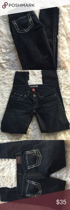 BKE Dark Jeans-Size 26x29 1/2 BKE Dark Jeans-Size 26x29 1/2, great condition very small wear on the bottom of pant. BKE Jeans Straight Leg