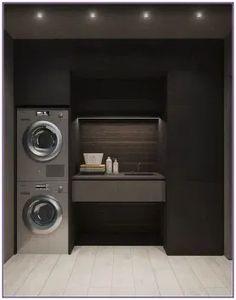 15 clever ideas for small laundry room design 00003 Laundry Room Design, Home Room Design, Dream Home Design, Bathroom Interior Design, Modern House Design, Modern Laundry Rooms, Laundry Room Layouts, Laundry Room Inspiration, Dream House Interior