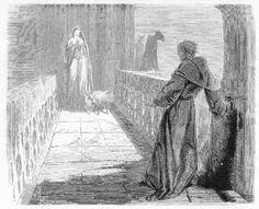 Illustration frollo esmeralda, Notre Dame de Paris