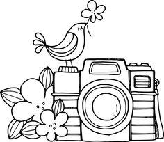 Birdie Brown: New Freebies & Challenge!--bird on a camera (April 2013 challenge)
