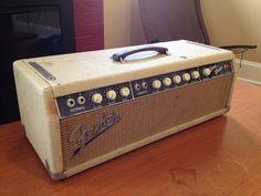 Vintage 1962 Fender BANDMASTER Brownface blonde AMP Tube Guitar Amplifier