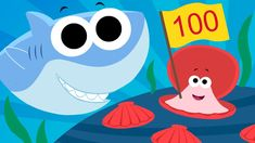 Let's Count To 100 | ft. Finny the Shark | Super Simple Songs - YouTube Preschool Songs, Kids Songs, Math Activities, Counting To 100, Youtube Songs, Morning Songs, Learn To Count, Math Classroom, Maths