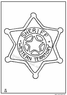 Sheriff Star Cowboy Coloring Pages
