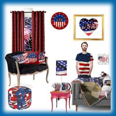 #Americanflag #baldeagle #fireworks #Zazzle #sandyspider #OartTee #shirt #pillows #mug #petclothes #playingcards #Polyvore #homedecor