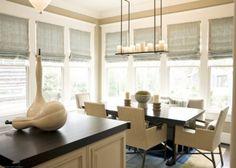 ideas - window treatments and light fixture