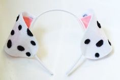 Diy Dalmatian Ear                                                                                                                                                                                 More