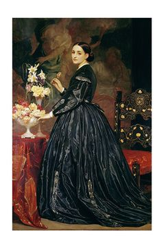 Is she putting the flower in the vase, or taking it out? Lord Frederic Leighton's...