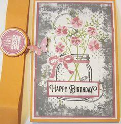Crafty Maria's Stamping World: Pop and Twist Birthday Card Using Jar of Love