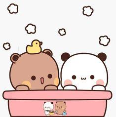 Cute Cartoon Pictures, Cute Images, Cute Words, Little Panda, Cartoon Wallpaper Iphone, Cute Panda, Cute Gif, Panda Bear, Cute Stickers