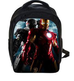 13 Inch The Avengers Iron Man School Bags for Kindergarten Children kids School Backpack for Girls Children's Backpacks Mochila