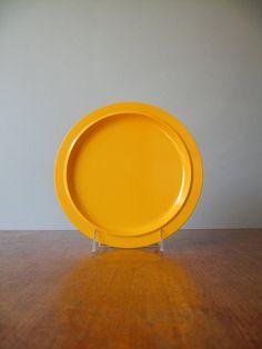 Five Mod Yellow Rosti Plates Koen De Winter by luola on Etsy