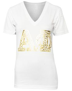 Alpha Phi Young Wild Animal V-neck