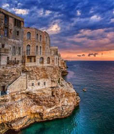 Polignano a Mare (Bari), Puglia, Italy. Bucket list for after kids go to college. Stay in airbnb apartment.