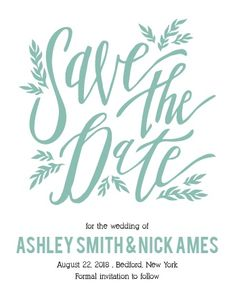 The Simple Wreath Save-the-Date Magnets