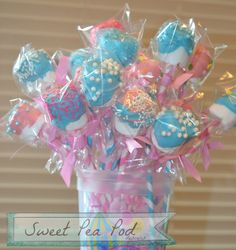 marshmallow pops, cake pop, birthday idea