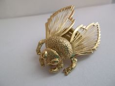 Signed Monet Vintage Bumble Bee Brooch