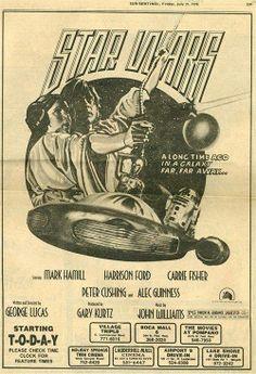 Star Wars Original Newspaper Ad