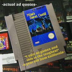 Actual ad quotes! #Retro #NES