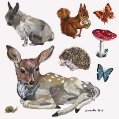 Animal stickers    These 8 wall stickers with forest animals will perfectly fit your child's room. To positionate wherever you want.