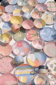 Deco Pastel, Pastel Room, Pastel Decor, Pastel Purple, Ceramic Pottery, Pottery Art, Ceramic Art, Keramik Design, Plakat Design
