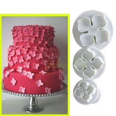 3pcs Plum Flower Cookie Plunger Cutter Fondant Sugarcraft Mold Cake Decorating   eBay