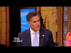 """Great interview! The Complete Interview with Mitt and Ann Romney on """"LIVE! with Kelly and Michael"""""""