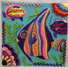 Sandy's Stitching Mind Maps: another gorgeous needlepoint from Sandy Arthur using Kreinik threads.