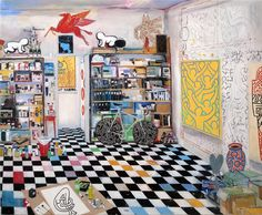 Keith Haring's Studio  (New York, 1989) by Damian Elwes