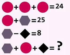 Acertijo con figuras geométricas.