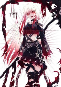 This Anime goth girl looks sexy Dark Anime Girl, Kawaii Anime Girl, Manga Girl, Blondes Anime Girl, Emo Anime Girl, Anime Girl Pink, Blue Anime, Pretty Anime Girl, Beautiful Anime Girl