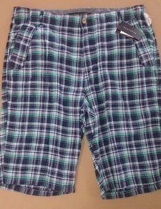 Men's SEAN JOHN Walking Casual Plaid Shorts Size 36 NWT 5 Pocket Free Shipping #SeanJohn #ebay #deals #shorts