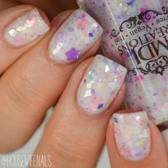 New! Walk In The Light ~ crellie glitter Indie Nail Polish by MDJ Creations by…