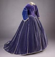 Purple velvet skirt and daytime bodice believed to have been made by Elizabeth Keckley for Mary Lincoln, 1861-62  National Museum of American History