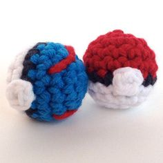 Give your kids the perfect Pokeball Power Crochet Pattern for them to play with whenever they want. Turn it into a key chain or make a whole bunch of them to have a Pokemon game. Pokemon Crochet Pattern, Pikachu Crochet, Crochet Patterns Amigurumi, Crochet Toys, Crochet Animals, Amigurumi Toys, All Free Crochet, Cute Crochet, Crochet For Kids