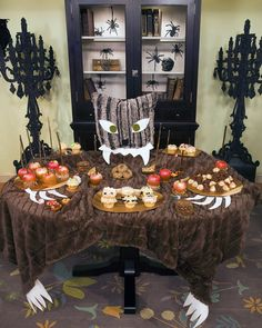 Halloween Decor: Monster Buffet Table