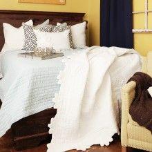 Charleston Ivory Quilt #lakebedroom @Celia Anthony